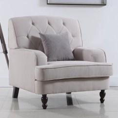 Modern Living Room Chair Rei Helinox Beach Madison Home Usa Tufted Fabric Arm
