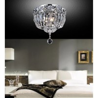 CrystalWorld 2 Light Flush Mount & Reviews