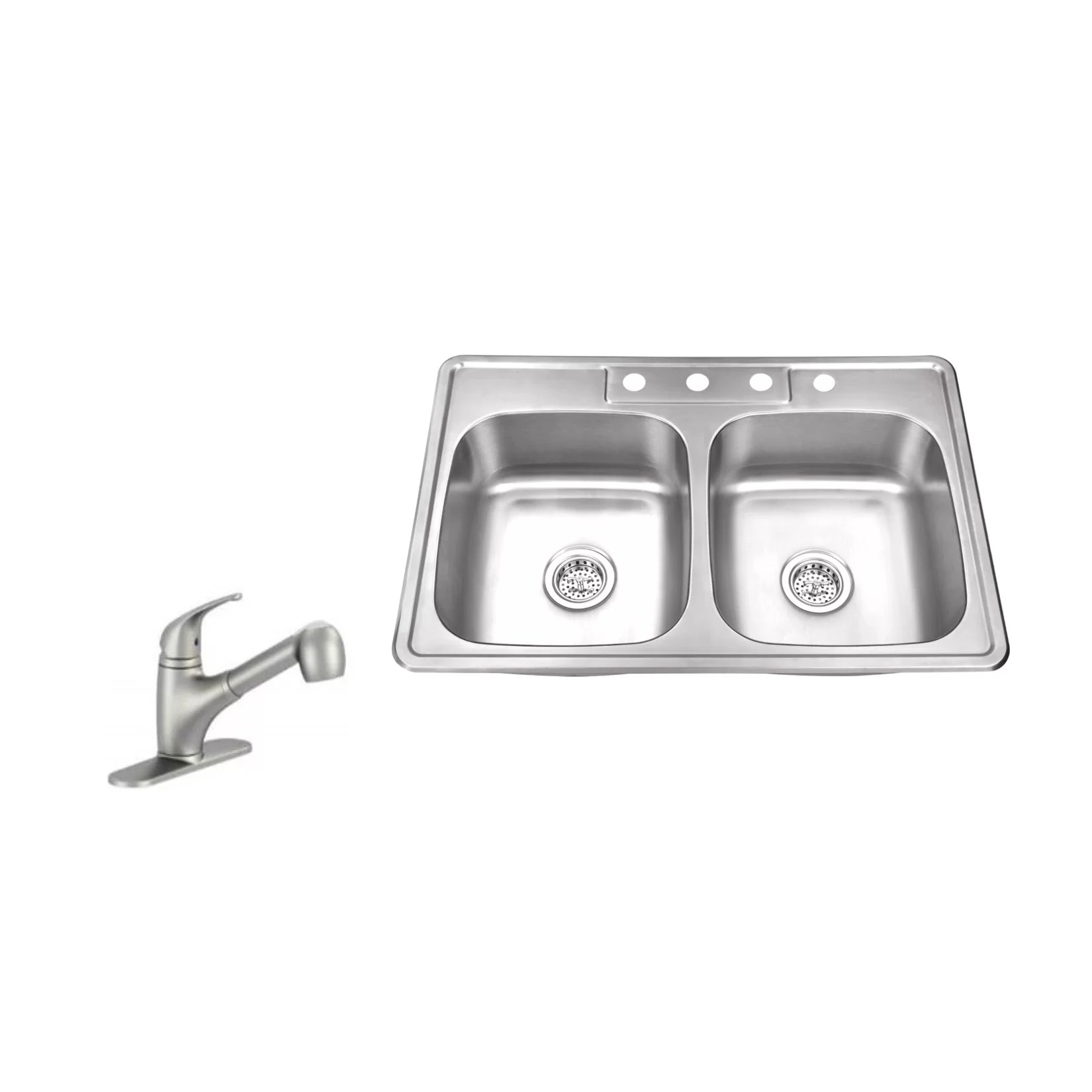 stainless steel kitchen sinks 33 x 22 delta single handle faucet repair soleil quot double bowl drop in