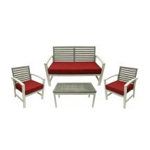 Northlight 4 Piece Acacia Wood Outdoor Furniture Set