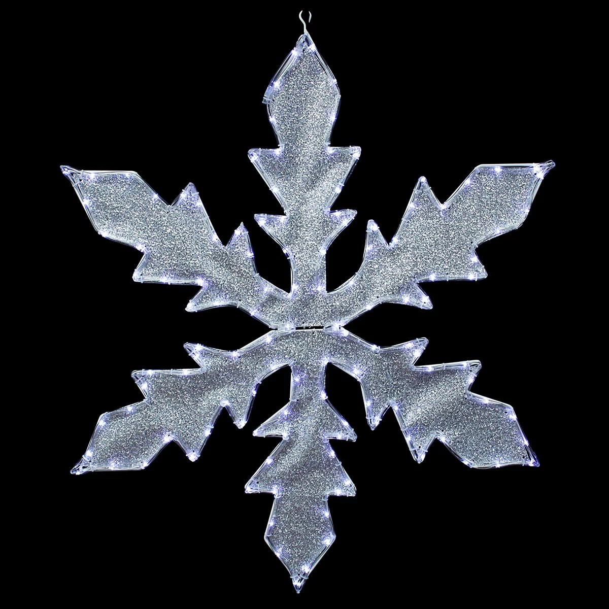 Northlight Lighted Indoor/Outdoor Tube Light Snowflake
