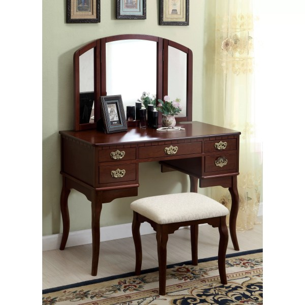 Vanity with Mirror Set