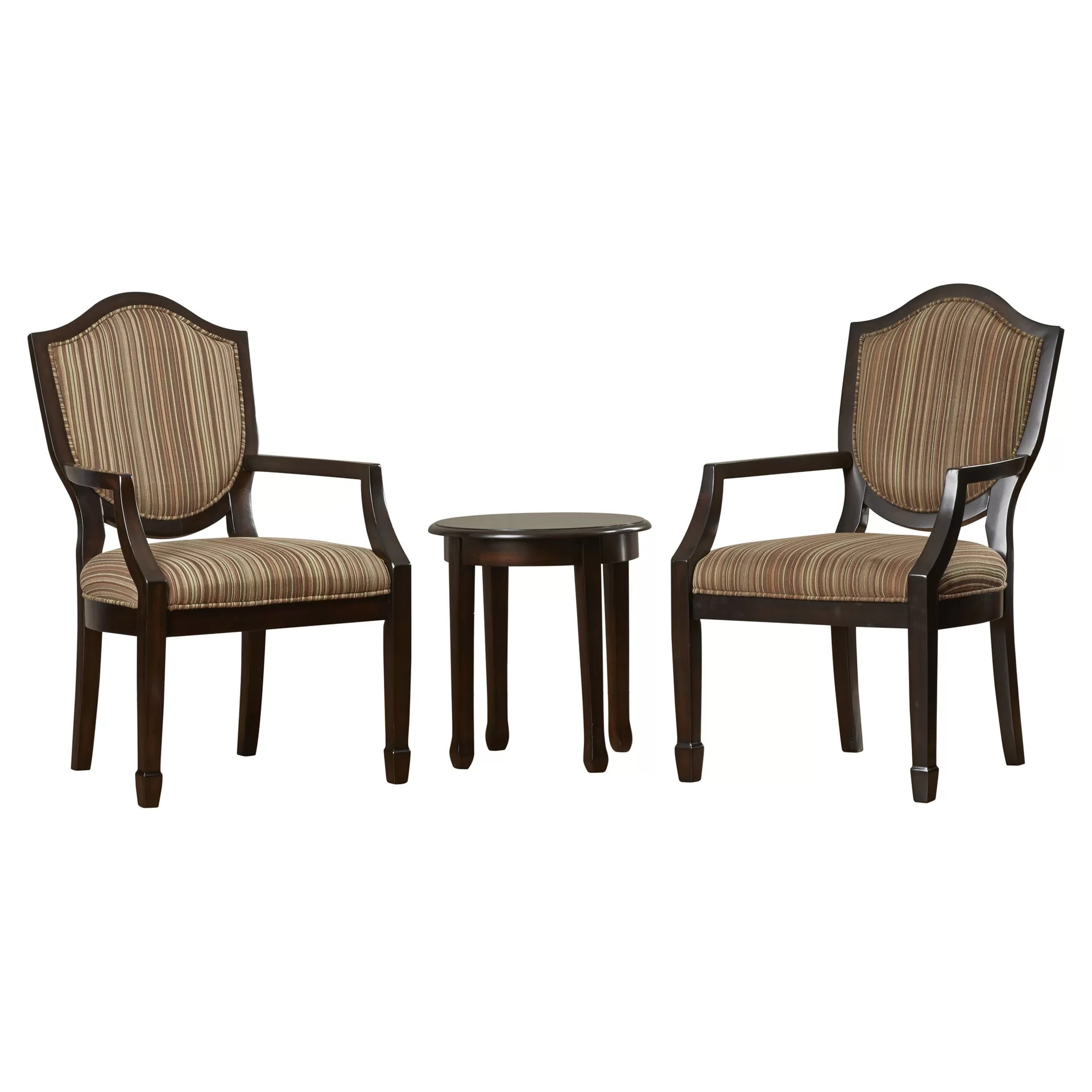 chair with arm table antique ladder back chairs darby home co underhill 3 piece cotton and side
