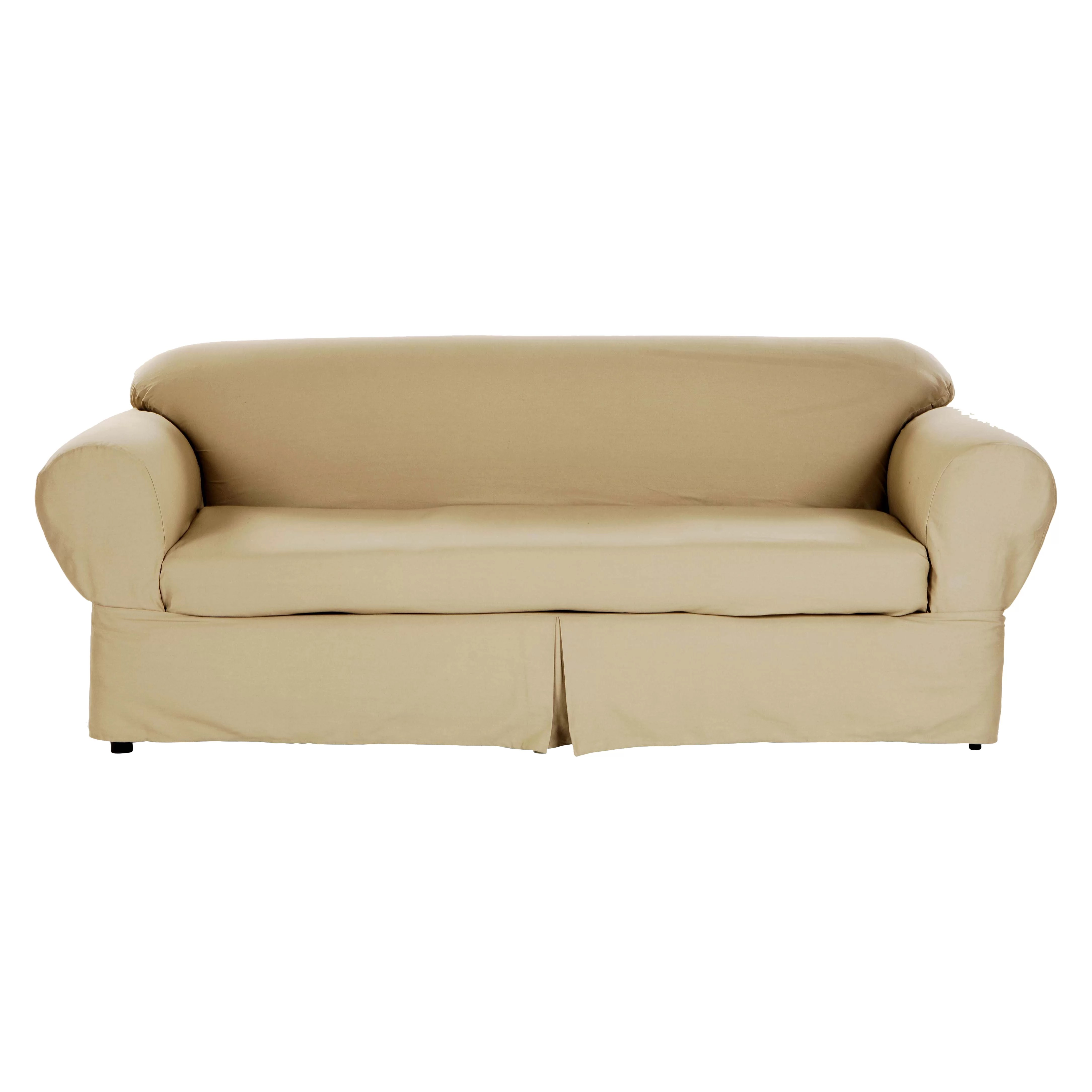 room and board sofa reviews andrew martin sofas second hand darby home co brushed twill slipcover wayfair
