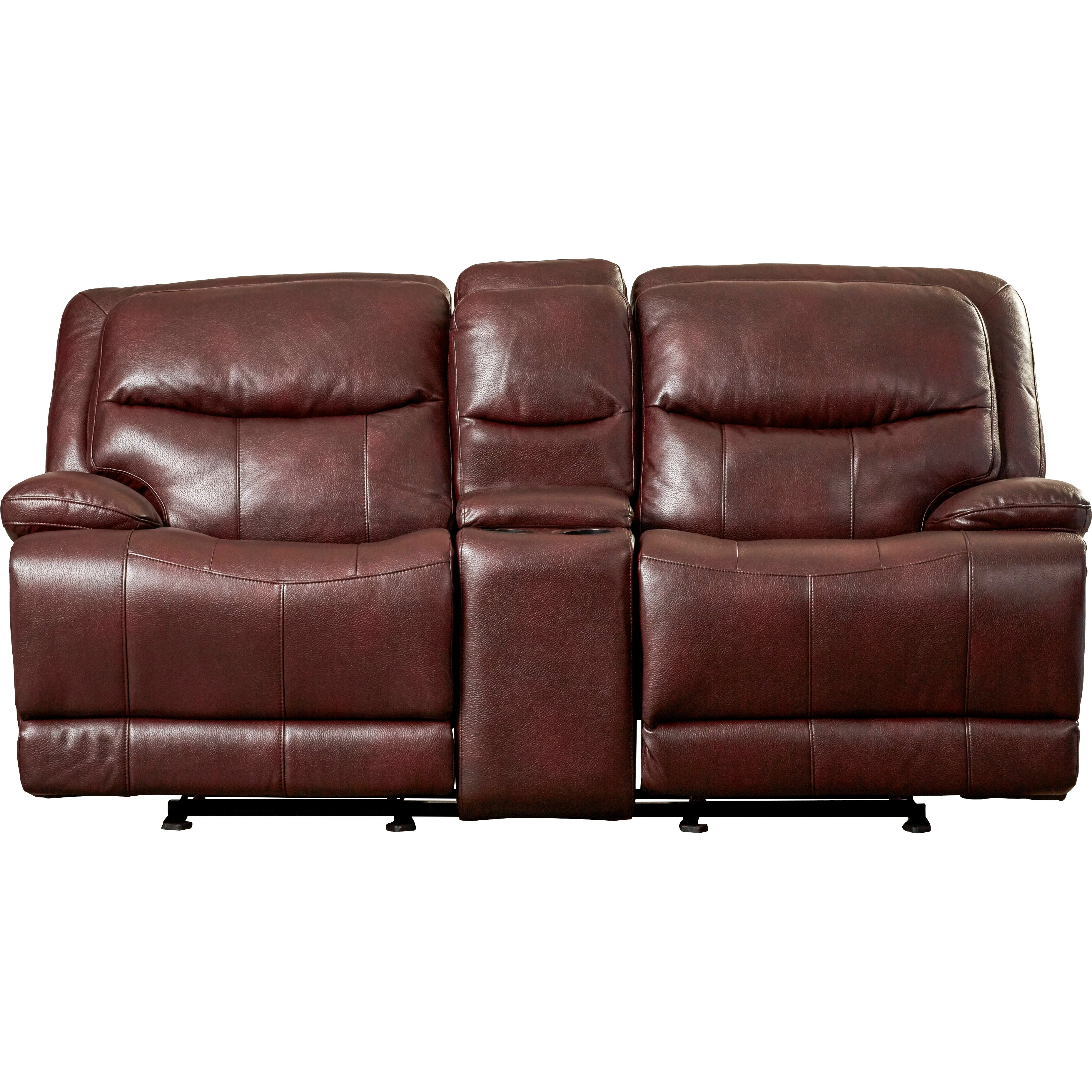 glider sofa ultrasuede preco darby home co golston reclining loveseat and reviews
