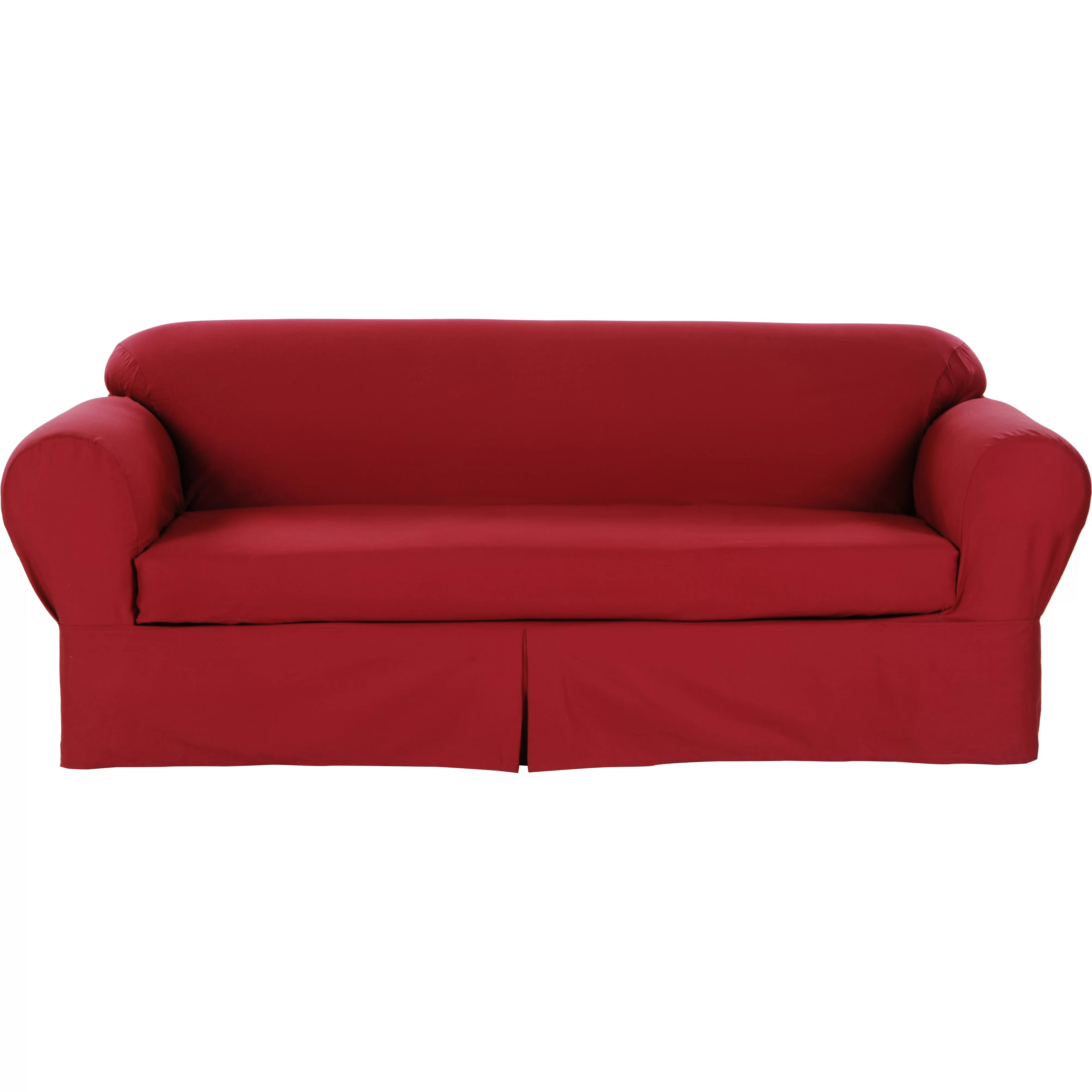 wayfair sofa covers single seater air with footrest darby home co brushed twill slipcover and reviews