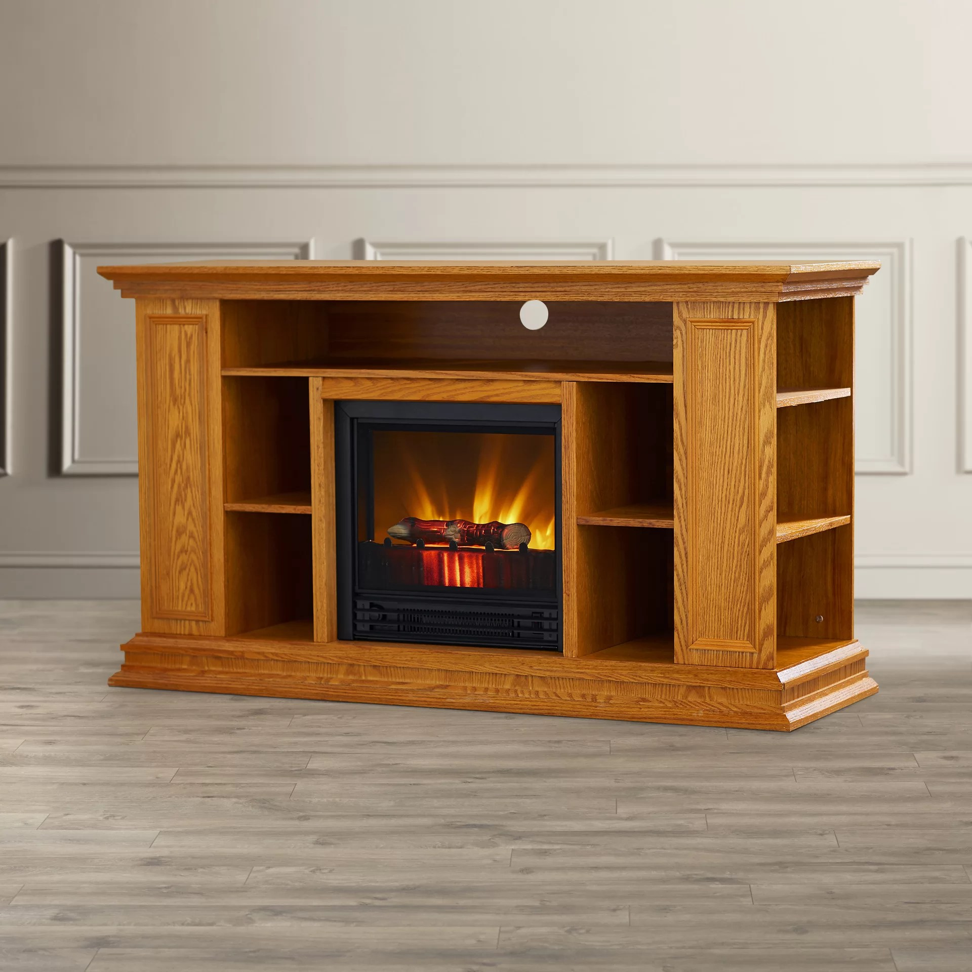 Darby Home Co Portland 50 TV Stand with Electric Fireplace  Reviews  Wayfair