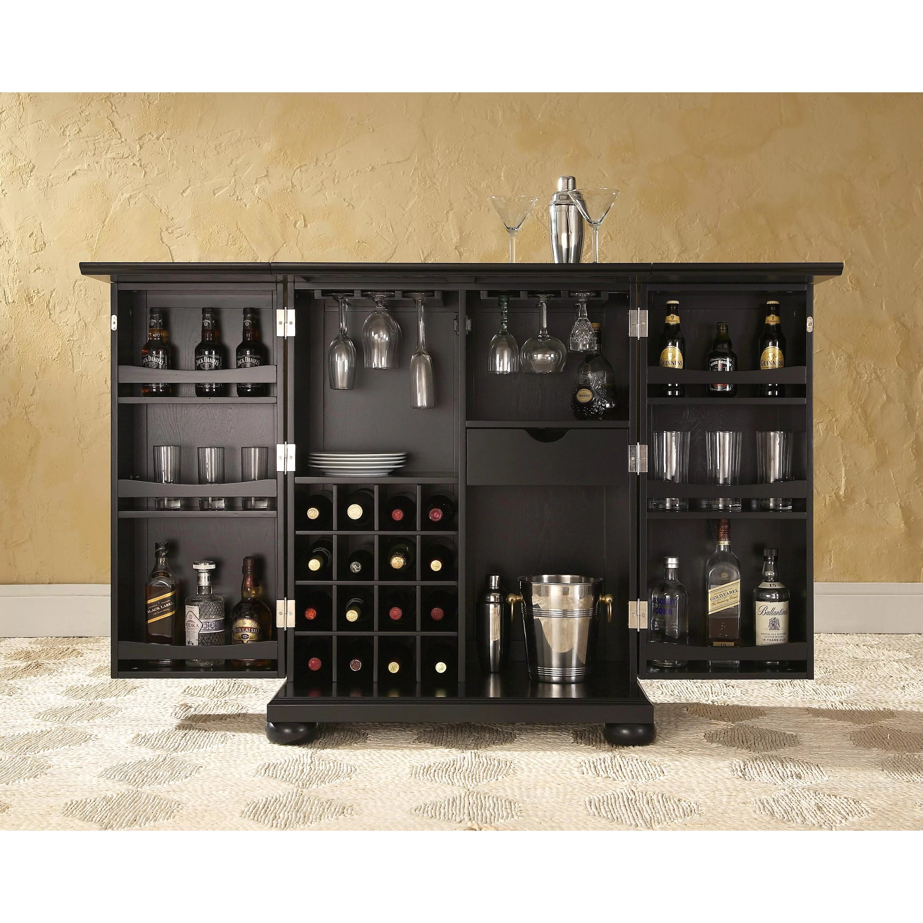 Darby Home Co Pottstown Expandable Bar Cabinet with Wine