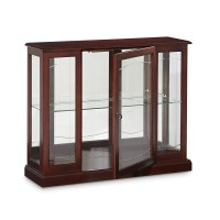 Darby Home Co Purvoche Console Curio Cabinet & Reviews ...