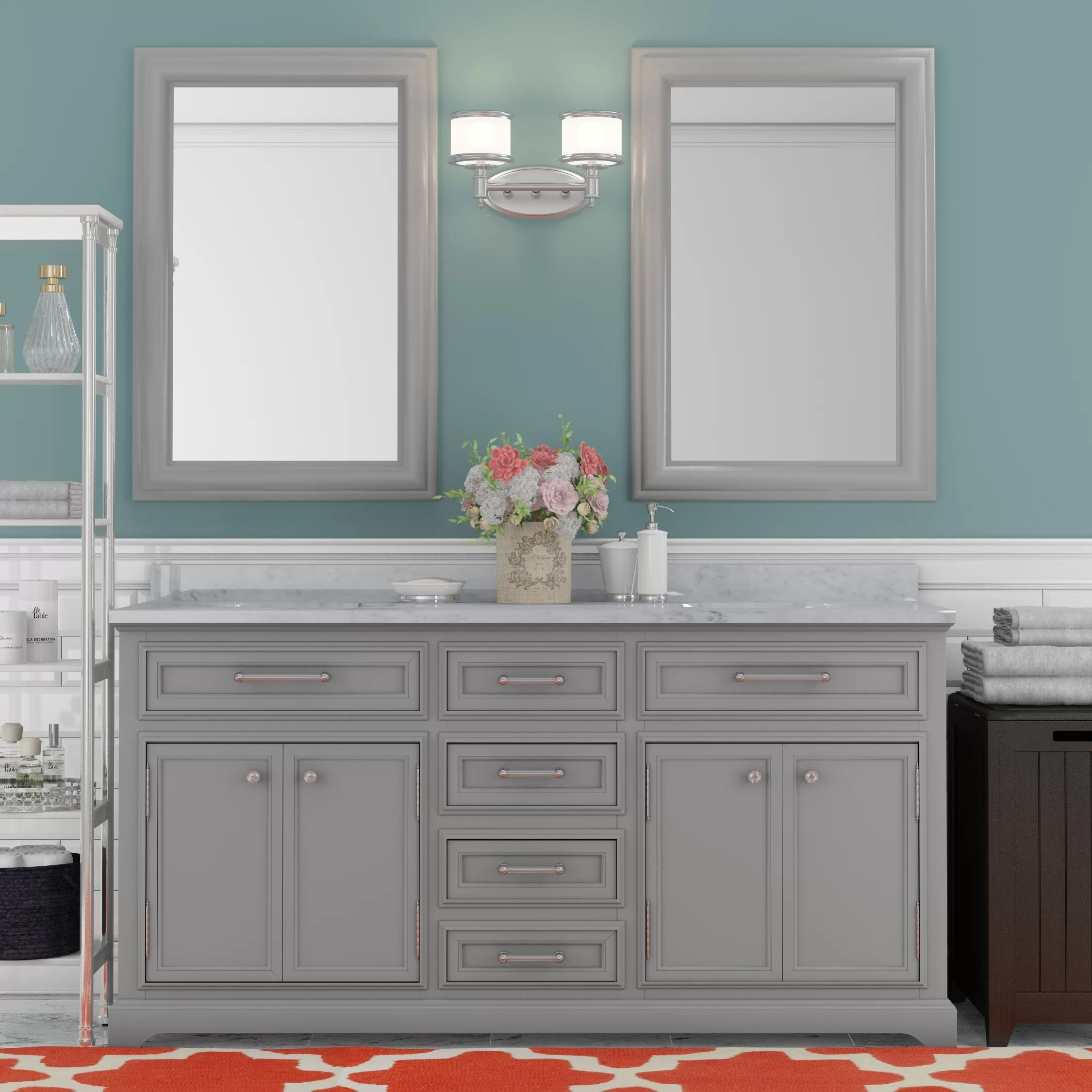 Darby Home Co Colchester 60 Double Sink Bathroom Vanity