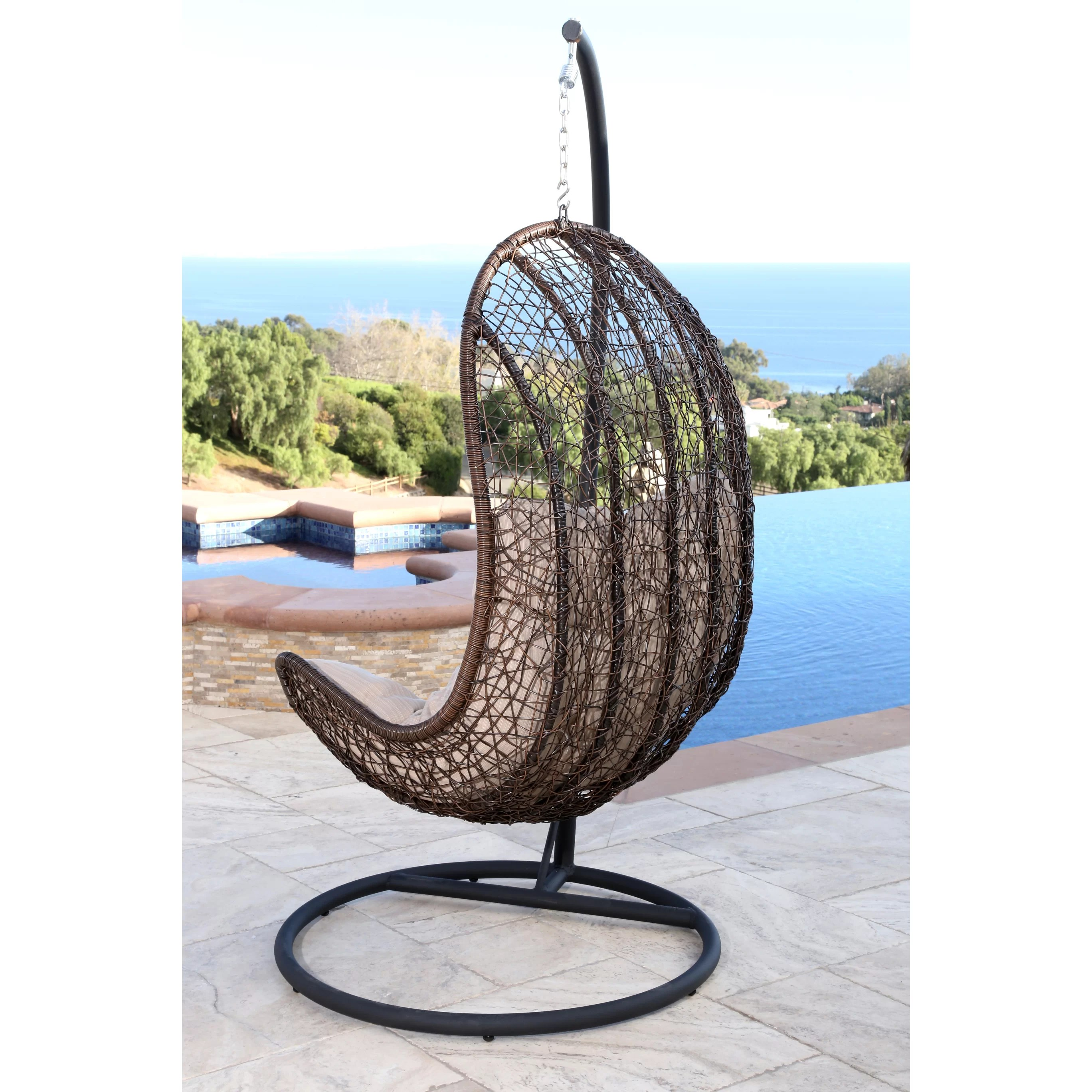 Egg Shaped Wicker Chair Darby Home Co Everson Eggshaped Swing Chair And Reviews