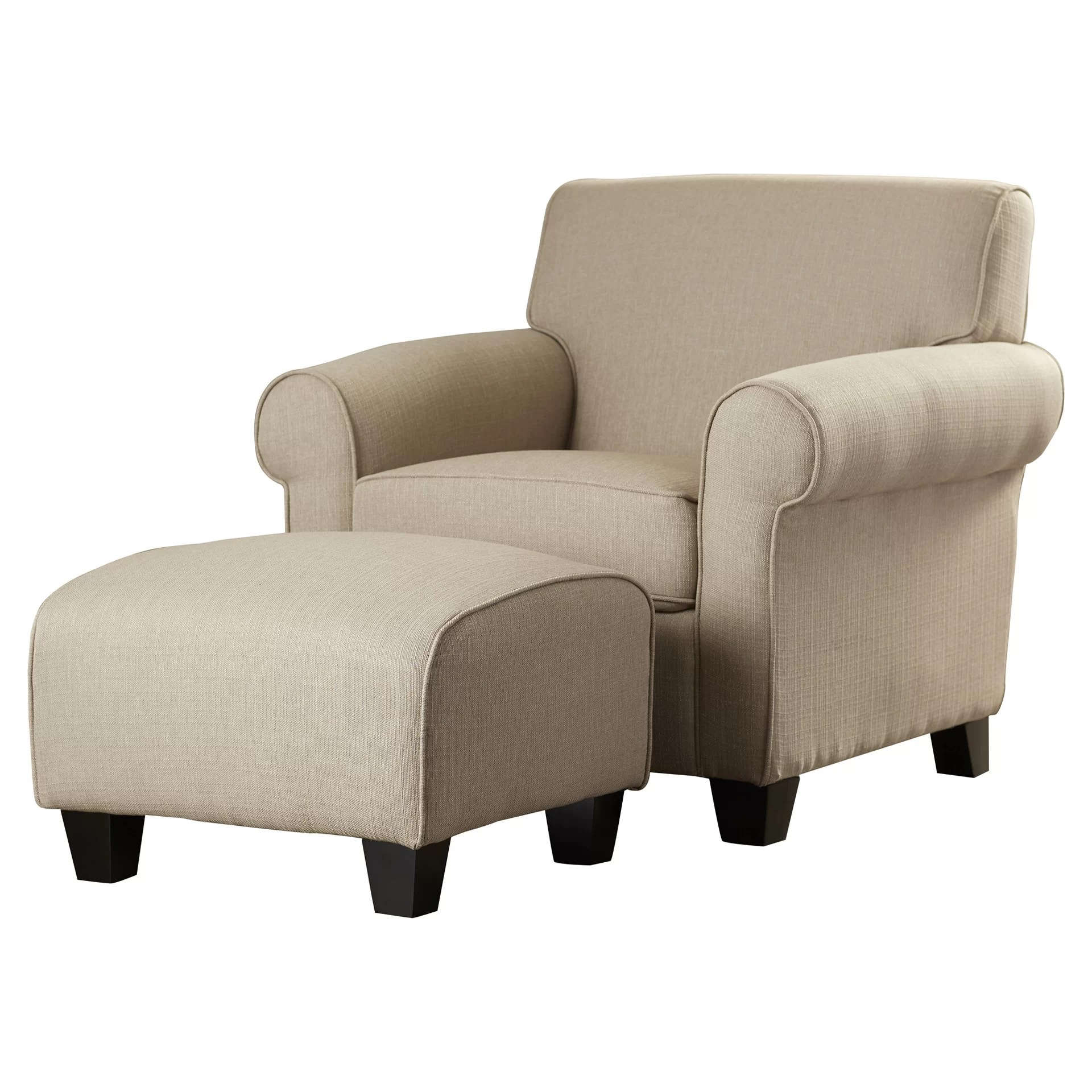 Alcott Hill Oldbury Arm Chair and Ottoman & Reviews