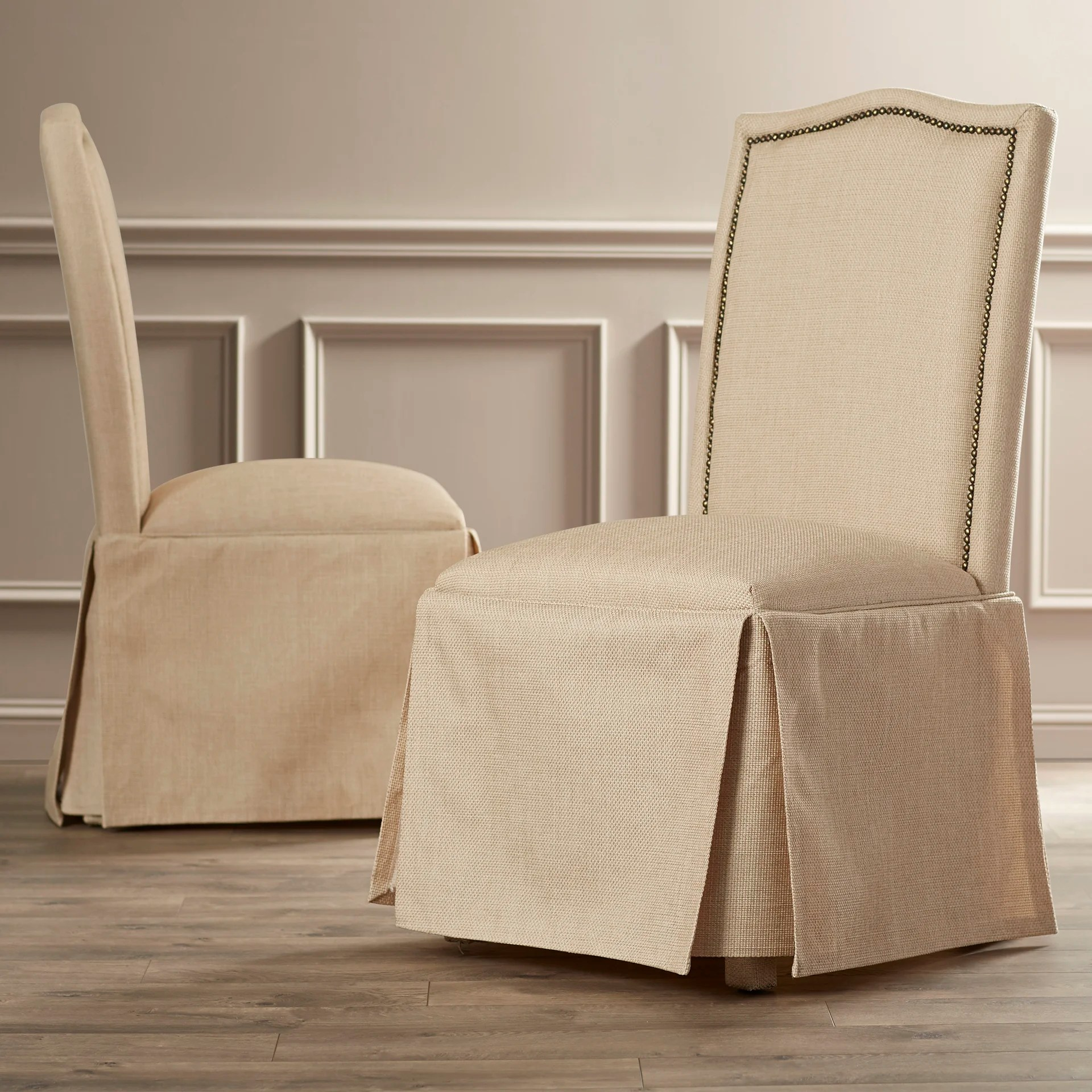 parsons chairs with skirt revolving chair bangladesh price alcott hill fredericksburg skirted parson and reviews