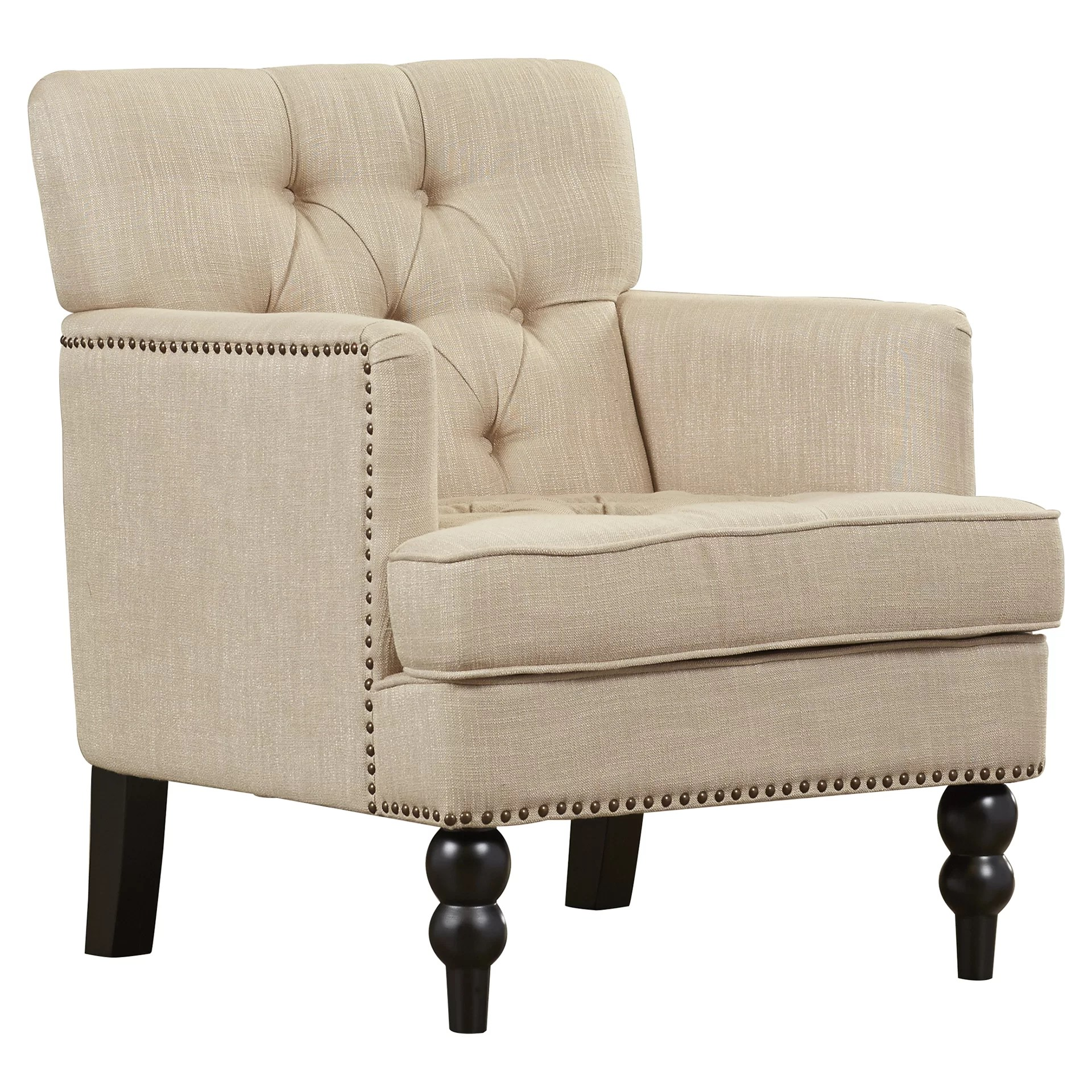 Upholstered Club Chair Alcott Hill Summerfield Tufted Upholstered Club Arm Chair