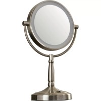 Alcott Hill Cordless Dual-Sided LED Lighted Vanity Mirror ...