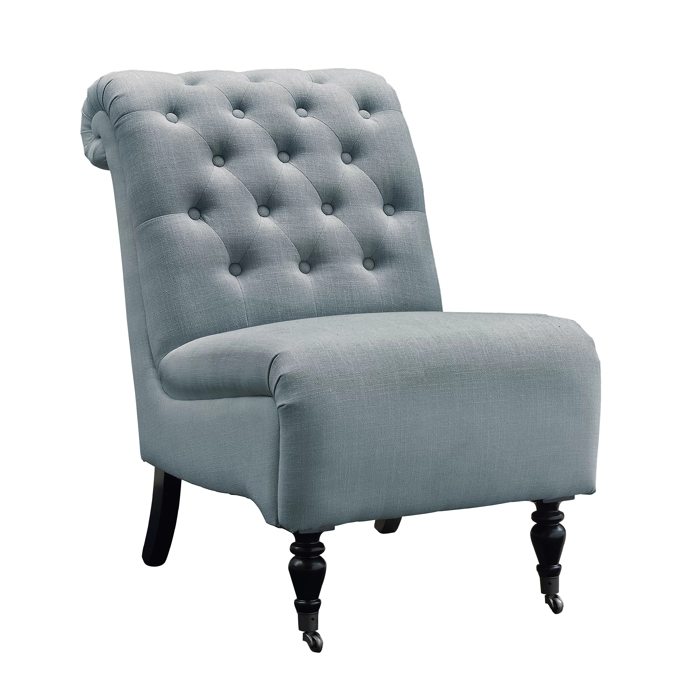 Tufted Slipper Chair Alcott Hill Columbus Roll Back Tufted Slipper Chair