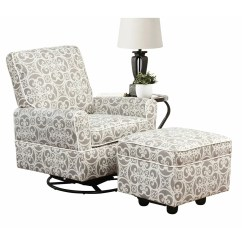 Glider Recliner Chair With Ottoman Cheetah Print Chairs Alcott Hill Brickstone Swivel And