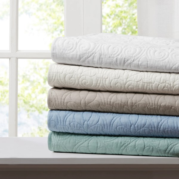 Madison Park Quilted Cotton Throws