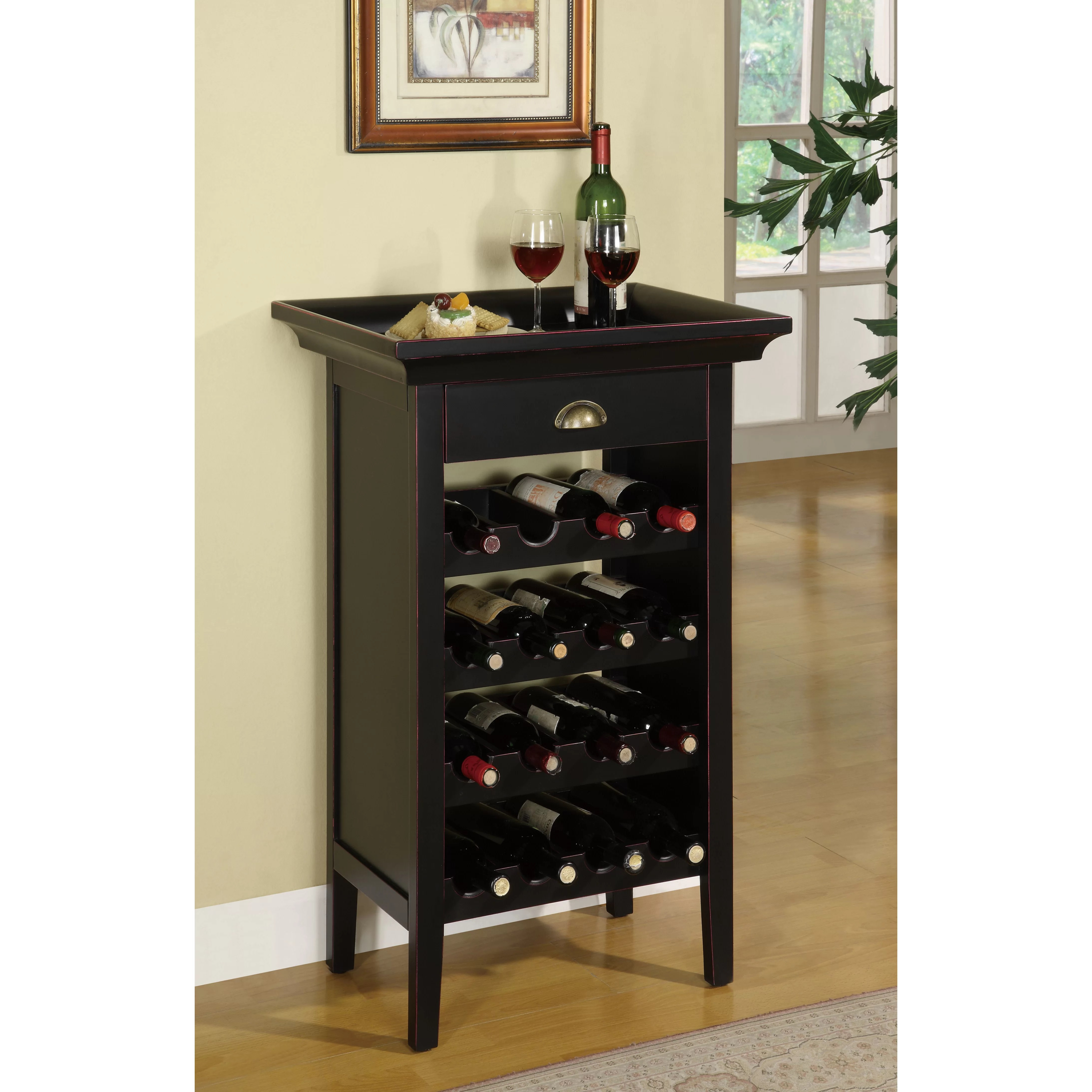 Charlton Home Beamish 16 Bottle Floor Wine Rack  Reviews  Wayfair