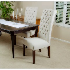 Tall Dining Chairs Desk Chair With Footrest Charlton Home Estbury Tufted Upholstered