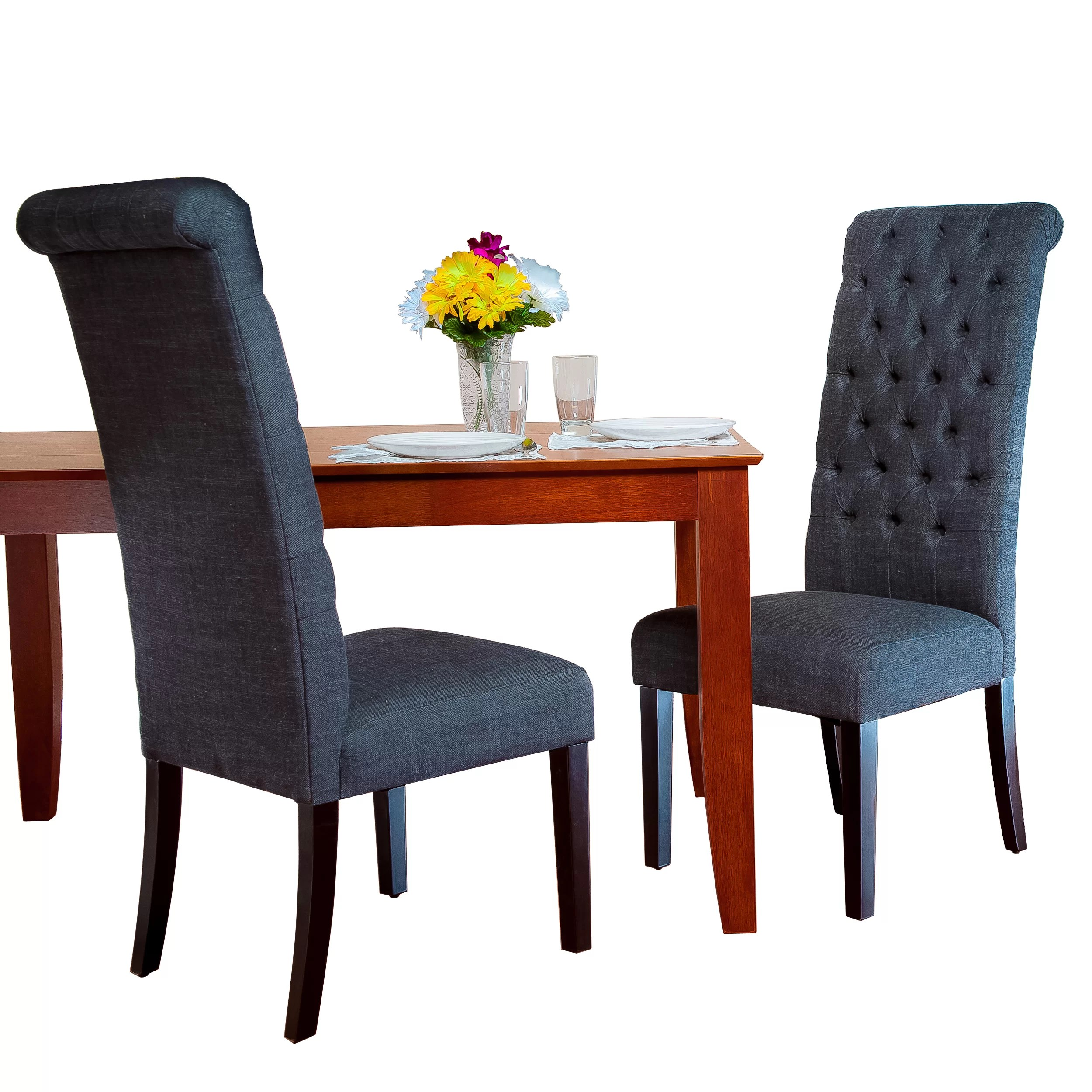 tall dining chairs cloth high chair charlton home estbury tufted upholstered