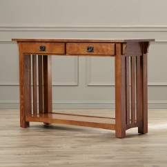 Mission Style Oak Sofa Table 96 Inches Leick Impeccable Console And Reviews Wayfair
