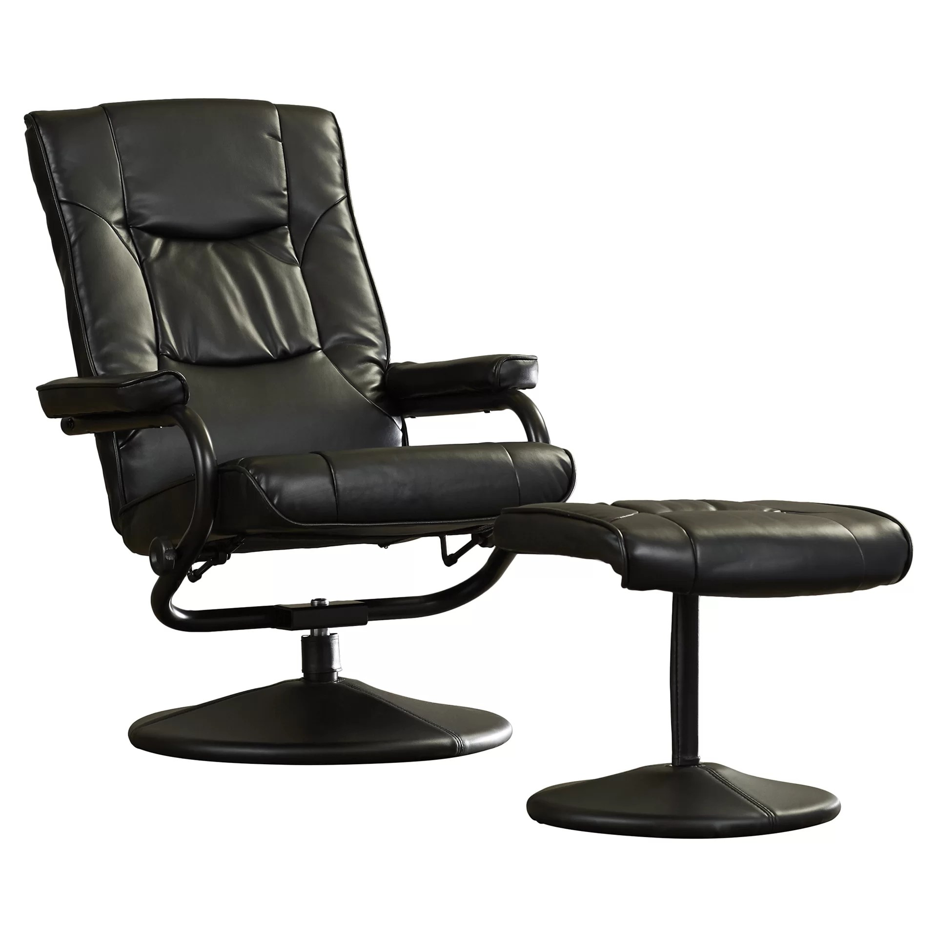 office chair ottoman bistro style tables and chairs charlton home soft leather reclining