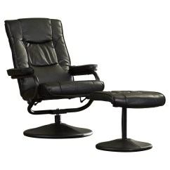 Leather Chair Ottoman Set Loveseat And Charlton Home Soft Reclining Office