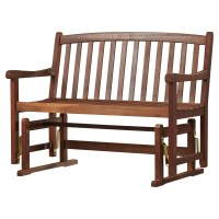Charlton Home Worcester Glider Wood Garden Bench & Reviews