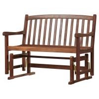 Charlton Home Worcester Glider Wood Garden Bench & Reviews ...
