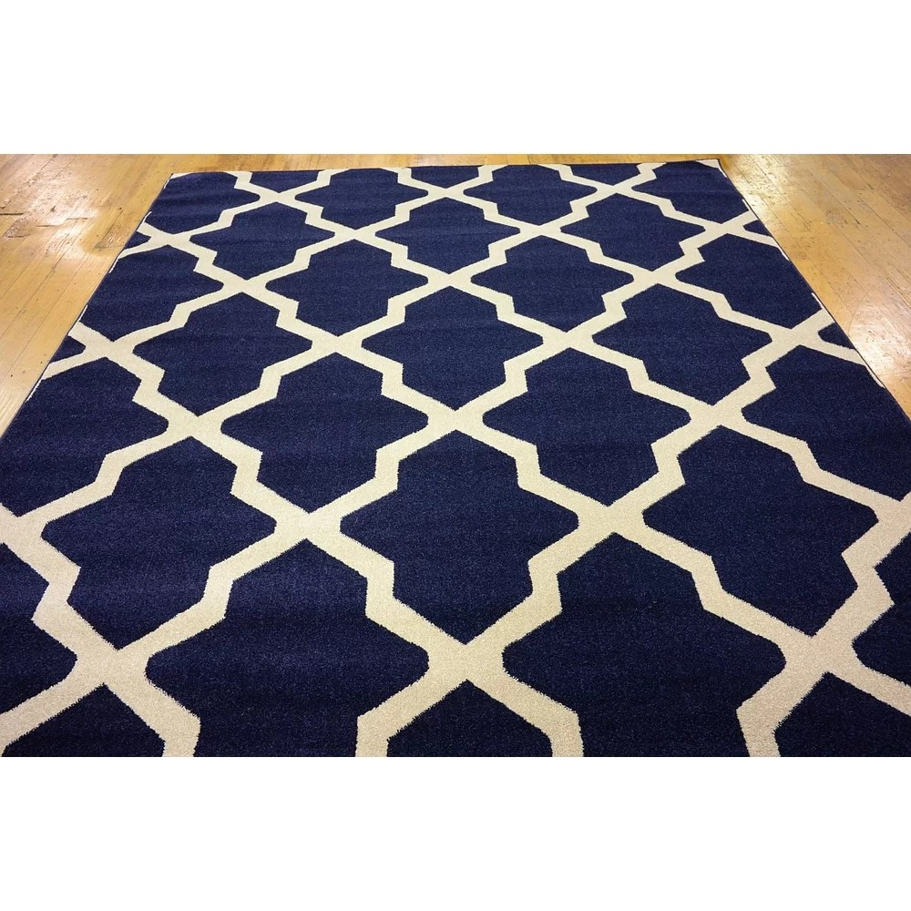 Charlton Home Moore Navy Blue Area Rug  Reviews  Wayfair