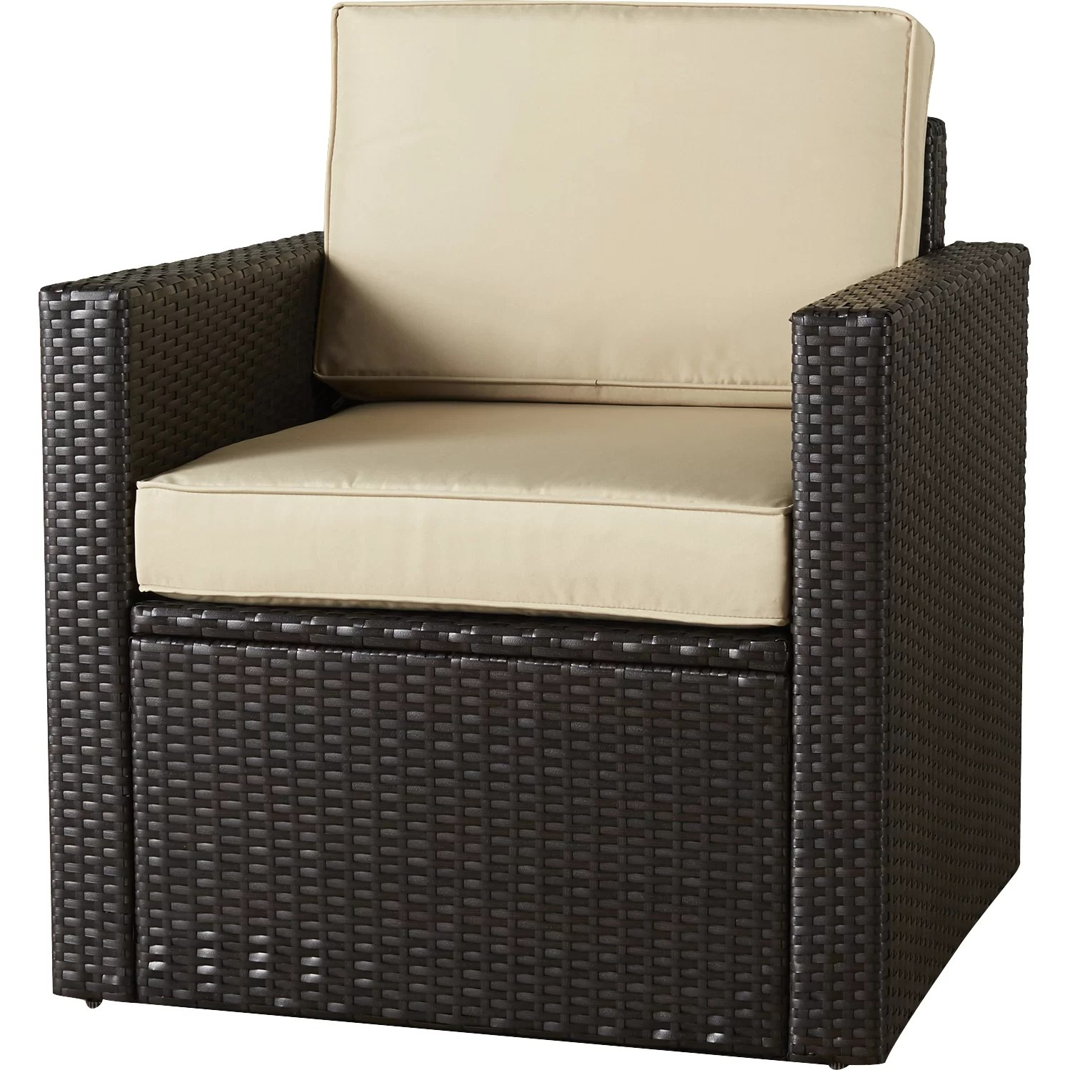 Deep Seating Patio Chairs Brayden Studio Crosson Outdoor Wicker Deep Seating Chair