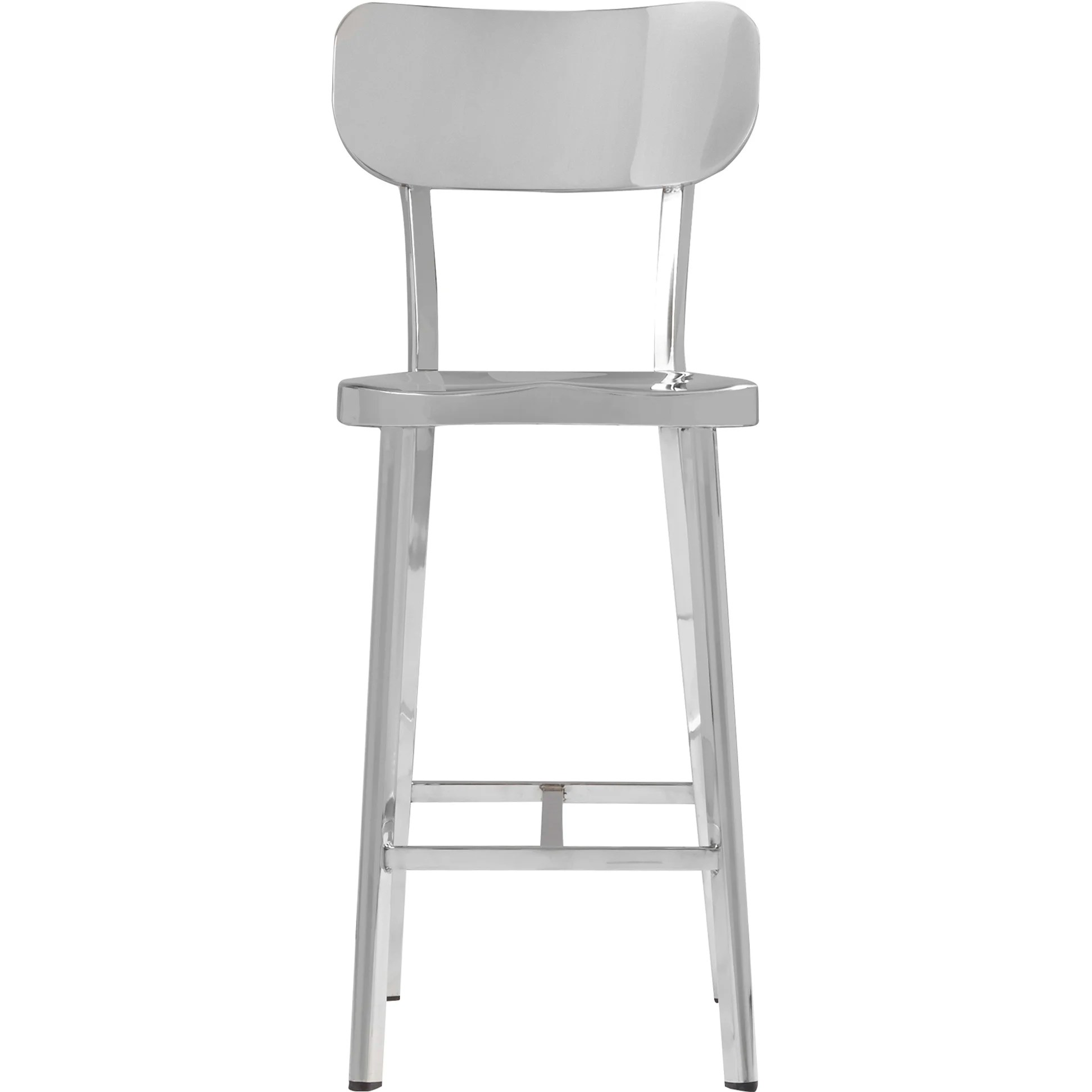 steel chair size american office brayden studio rizzuto counter height stainless side