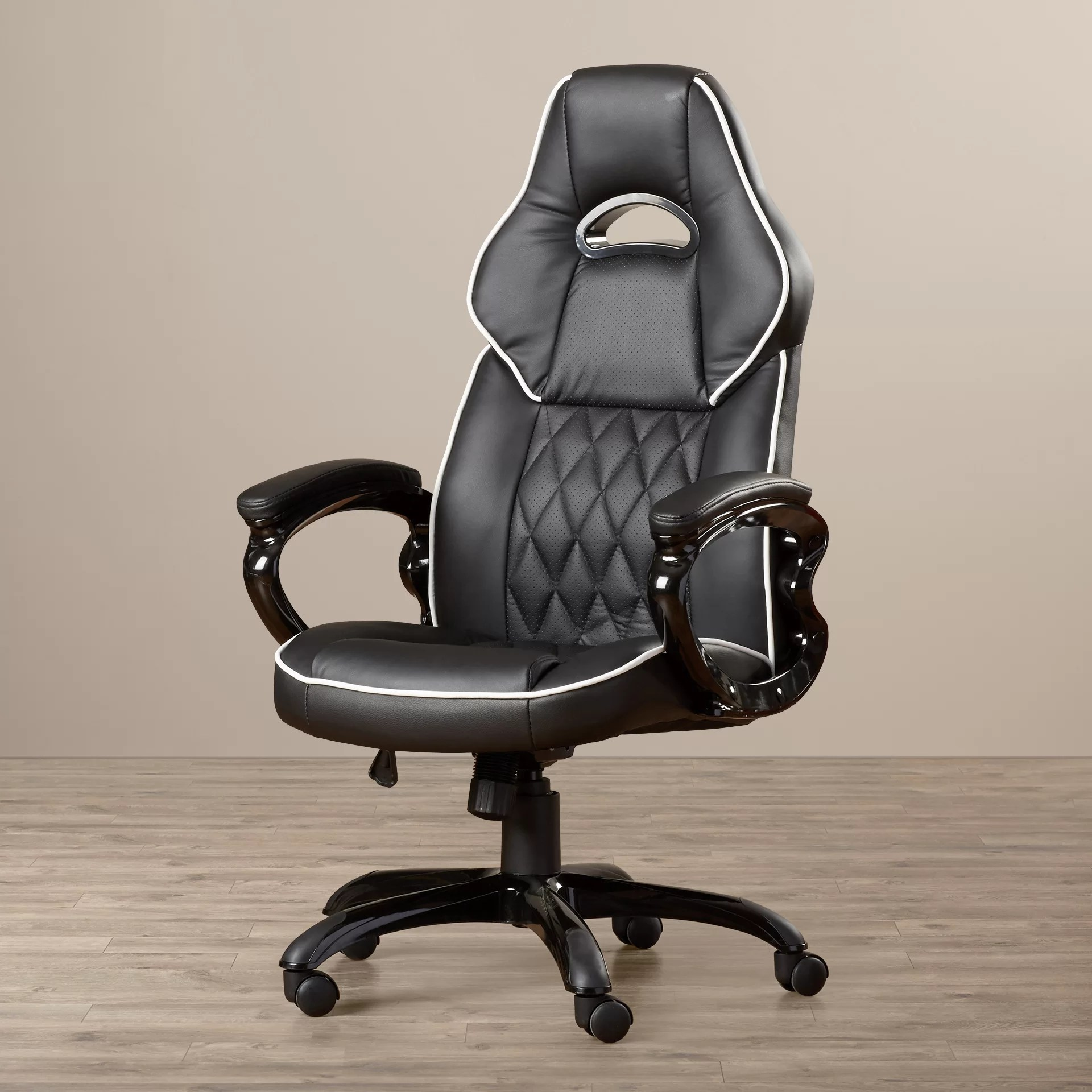 office chair high seat wooden rocking chairs nursery wade logan fairfax back executive