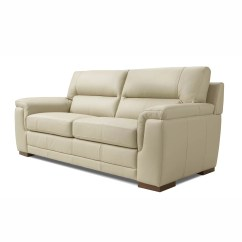 Albany Leather Sofa Fluffy Bed Wade Logan 3 Seater Wayfair