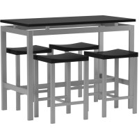 Wade Logan Daryl 5 Piece Counter Height Pub Table Set ...
