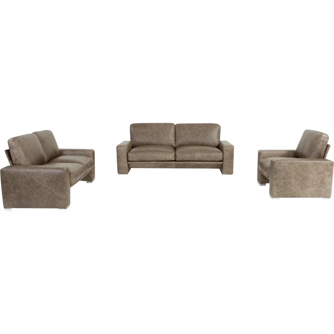 3 piece white leather sofa set tables for living room wade logan northbridge wayfair
