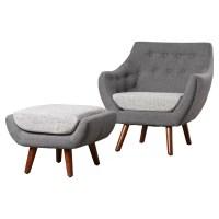 Langley Street Murfreesboro 2 Piece Arm Chair and Ottoman ...