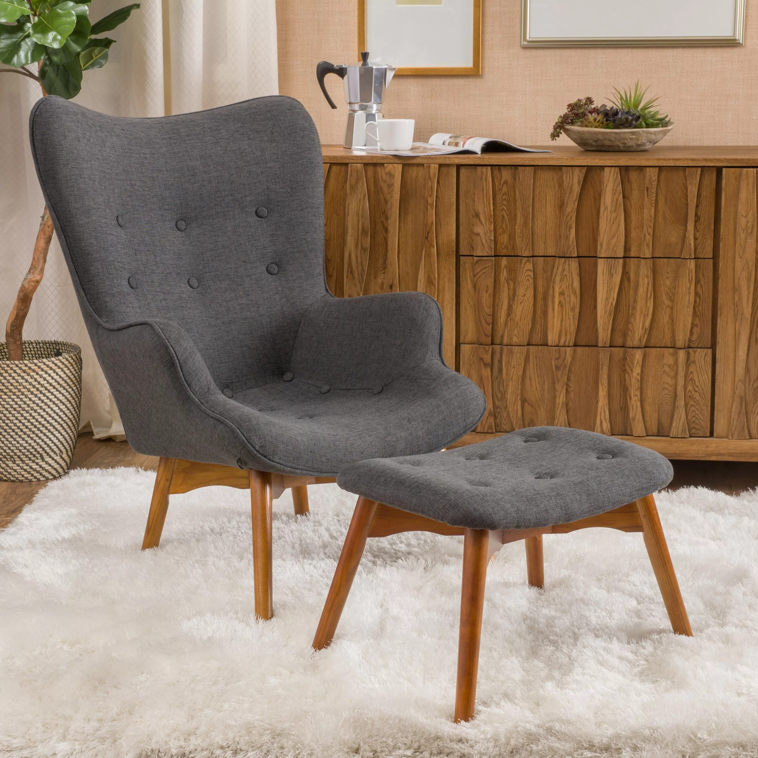 Langley Street Canyon Vista MidCentury Accent Chair Set