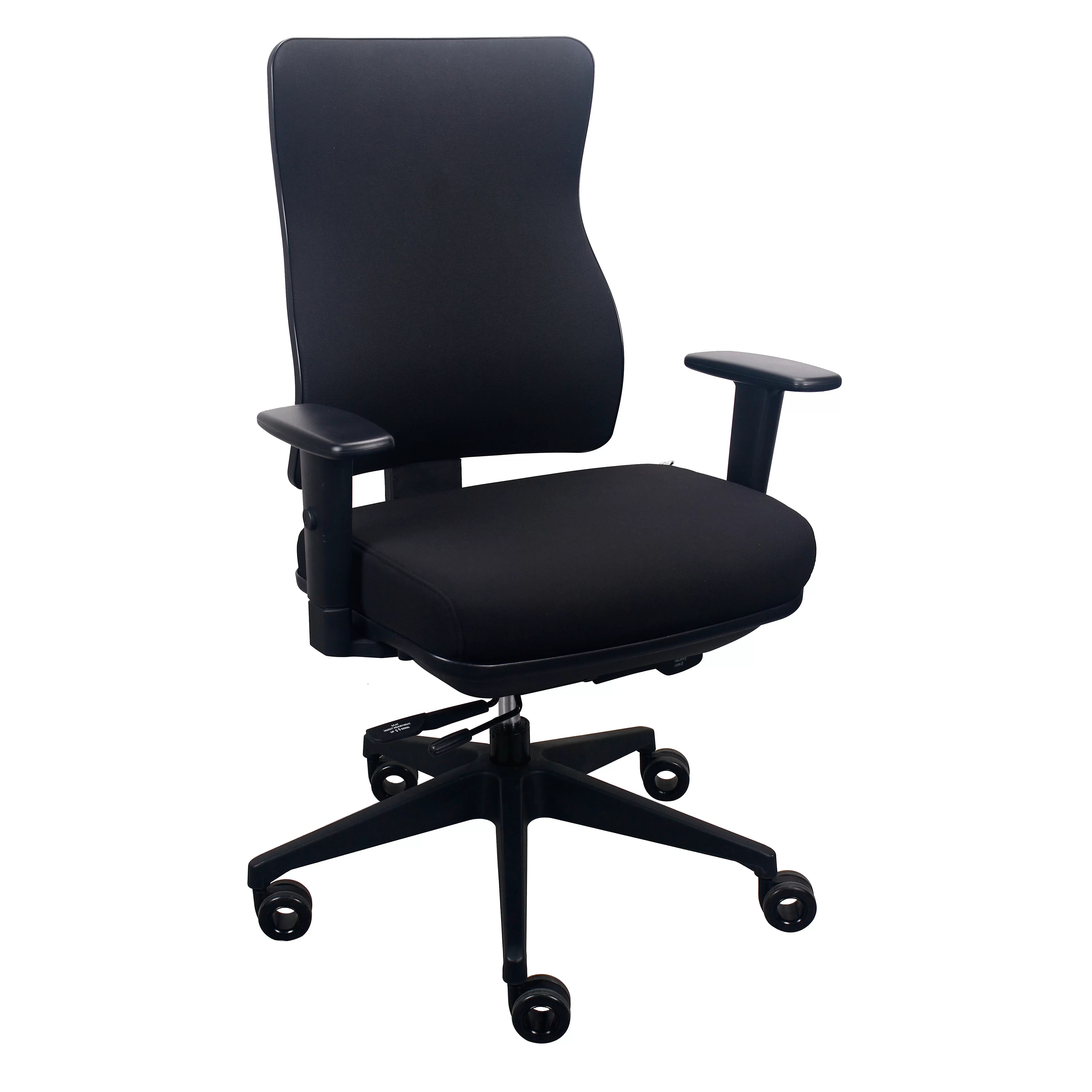 high back chairs with arms best geneva glider espresso wood granite tempur pedic executive office chair