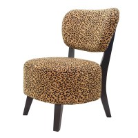 BestMasterFurniture Leopard Rounded Seat Slipper Chair ...