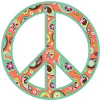 My Wonderful Walls Paisley Peace Sign Wall Sticker Kit ...
