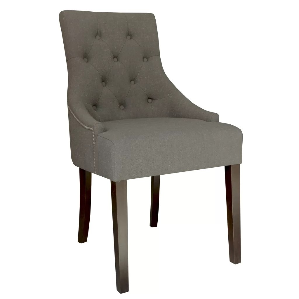 Set Of Accent Chairs Nspire Set Of 2 Linen Fabric Accent Chair With Stud