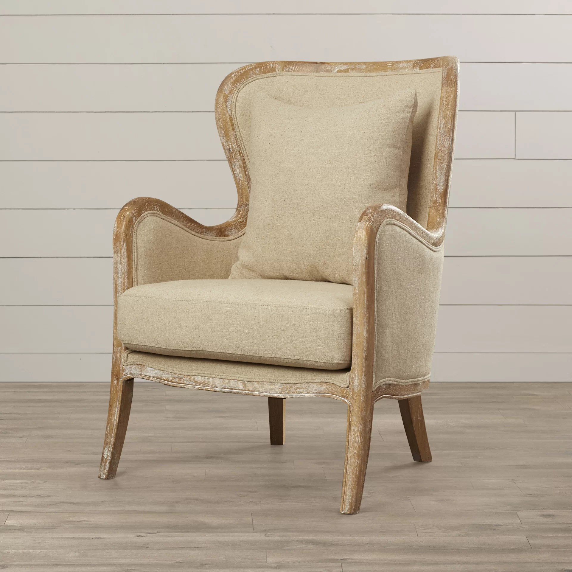 Lark Manor Lilya Accent Wingback Chair  Reviews  Wayfair