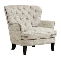 Lark Manor Timothee Script Upholstered Arm Chair & Reviews ...
