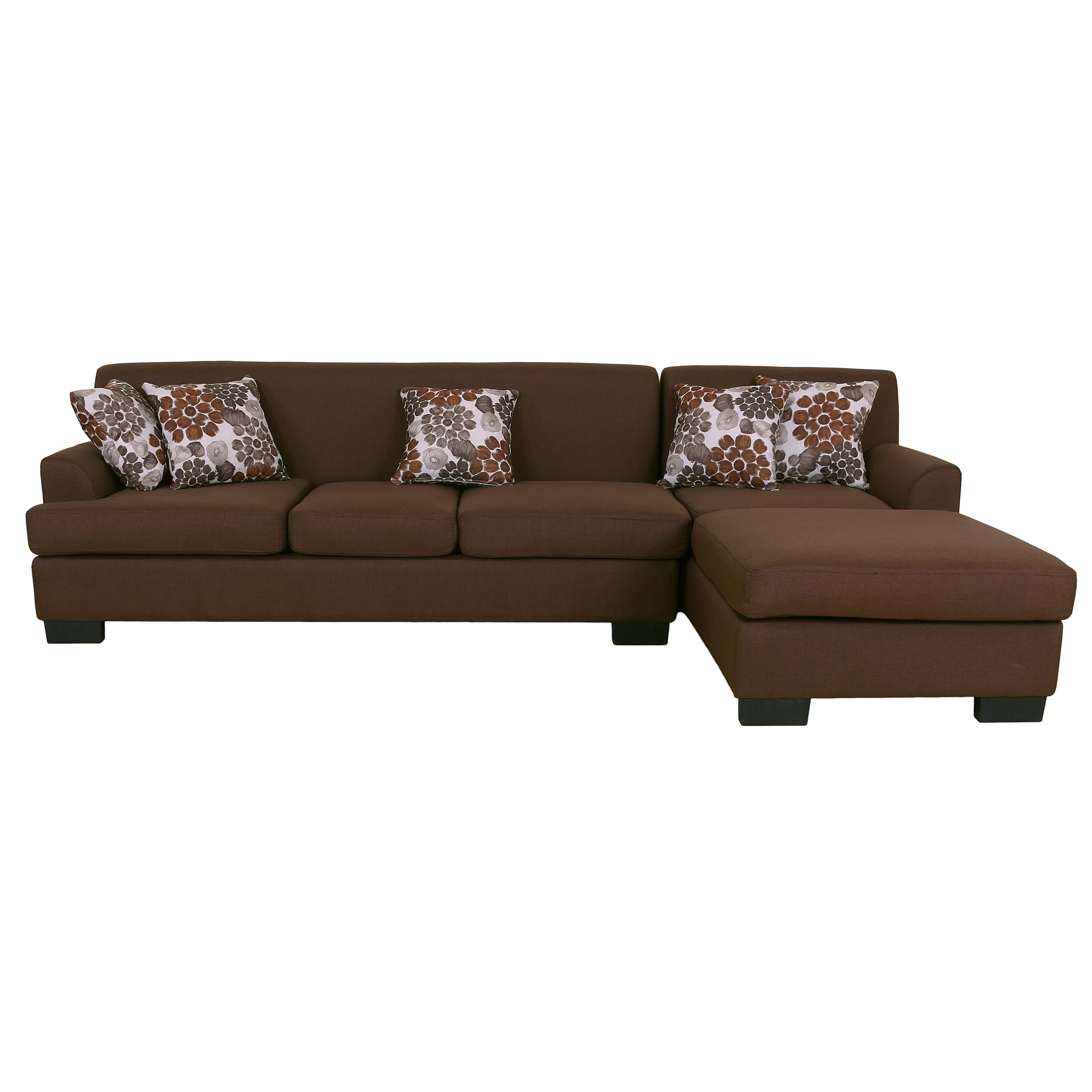 aria fabric modern sectional sofa set clack bed reviews container reversible chaise and wayfair