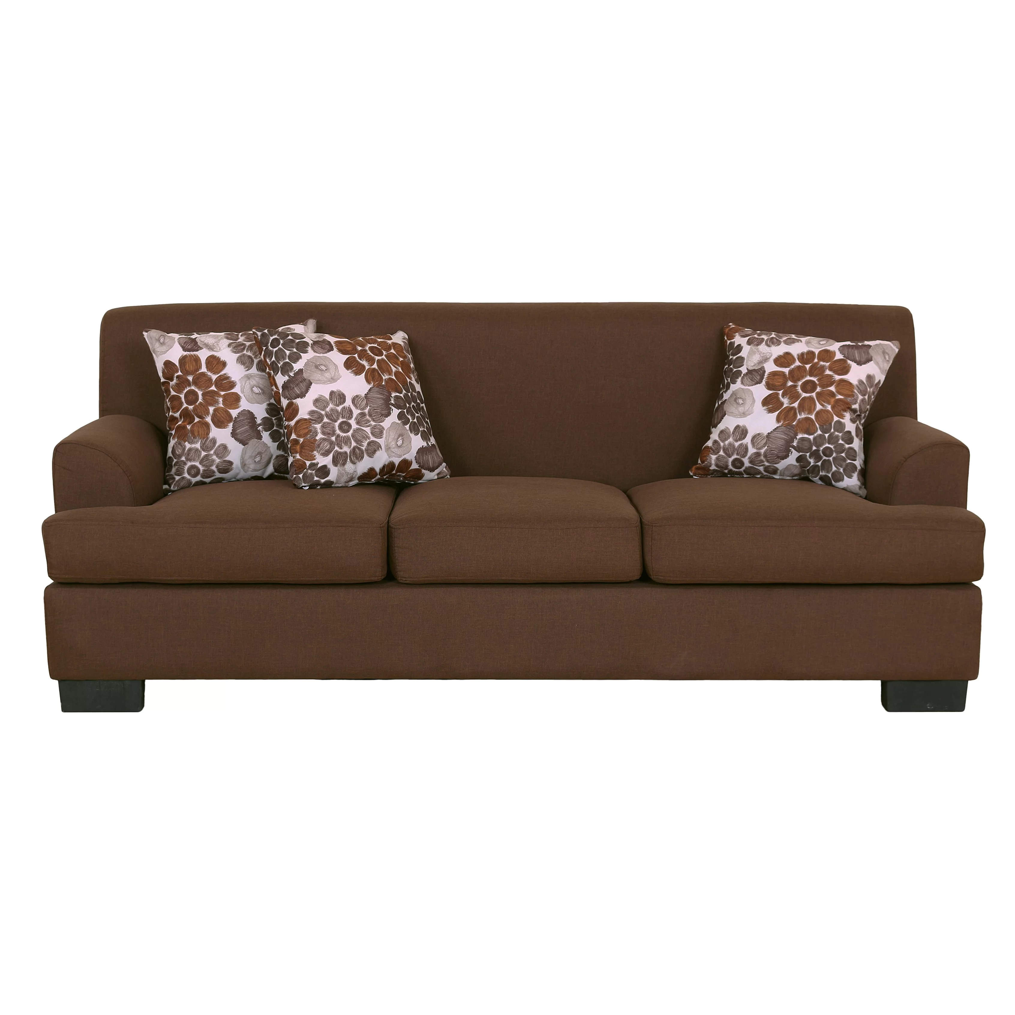 modern fabric sofa set loveseat bed container 2 piece and