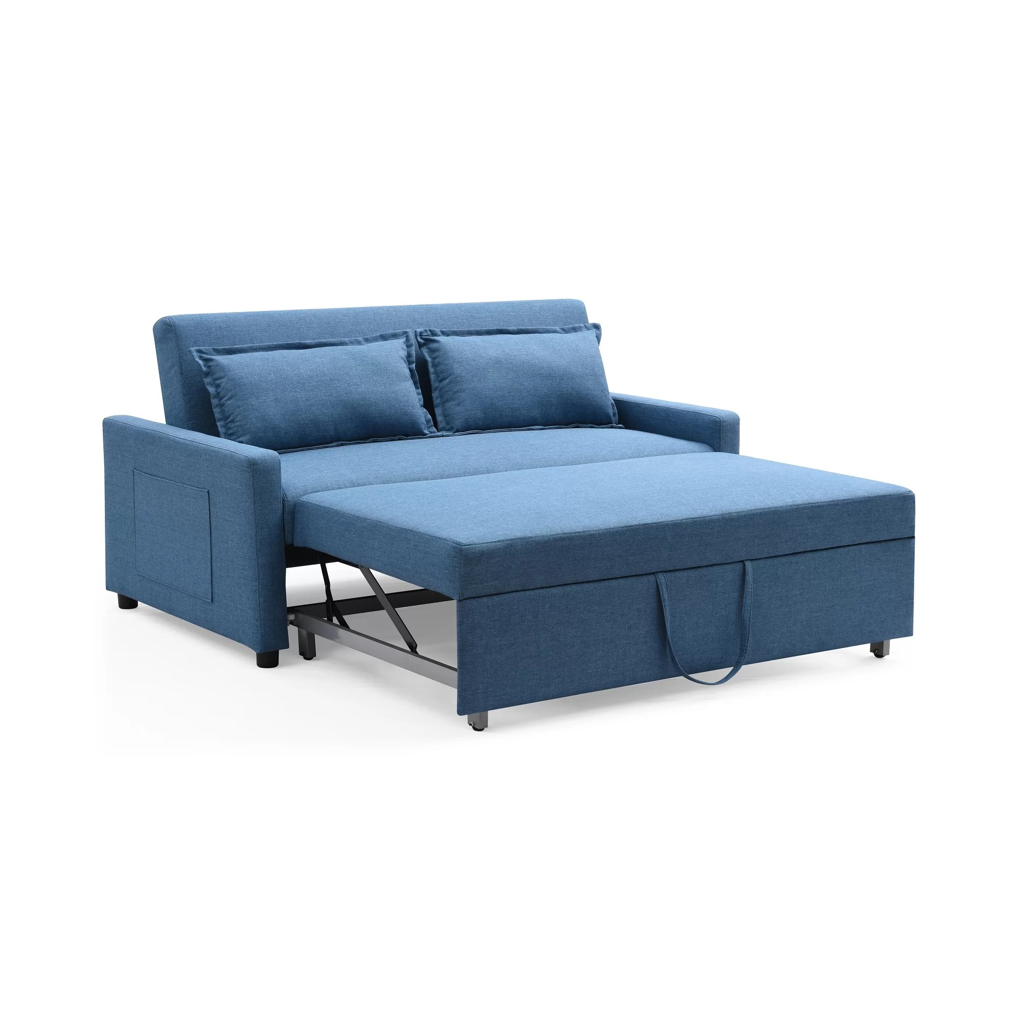 modern sleeper sofa loveseat side table slide under uk container fabric convertible and reviews