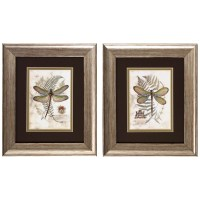 August Grove Dragonfly I and II Framed Painting Print ...