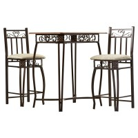 August Grove 3 Piece Counter Height Pub Table Set ...